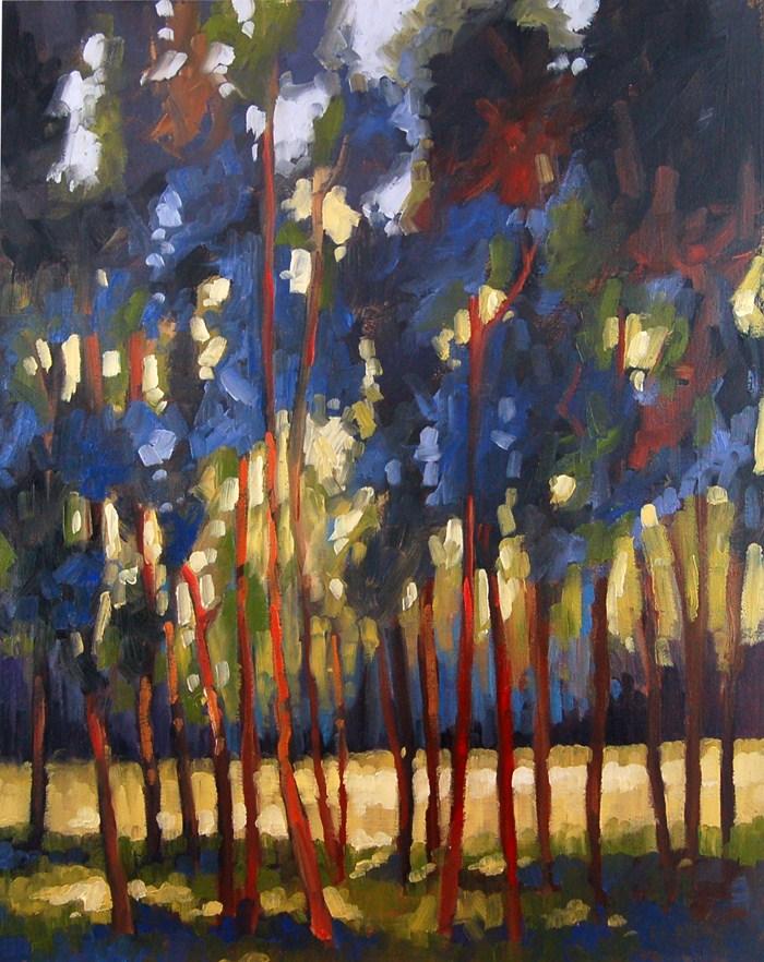 """No 454 Through the Trees"" original fine art by Robin J Mitchell"
