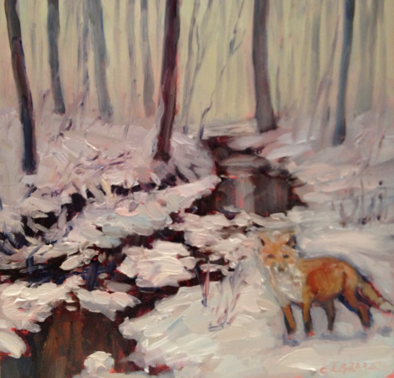 """""""Standing Ground, Day 72"""" original fine art by Claudia L Brookes"""