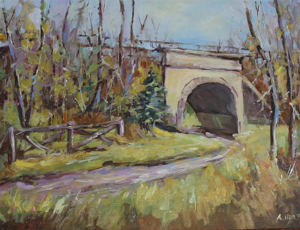 """Rails Trails Landscape Country"" original fine art by Alice Harpel"