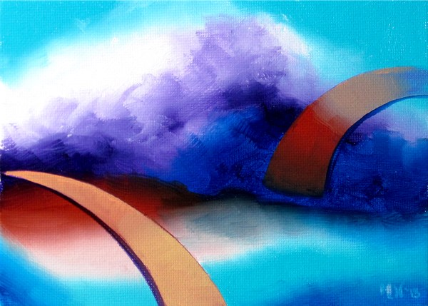 """Mark Webster - Abstraction 25 - Abstract Landscape Oil Painting"" original fine art by Mark Webster"