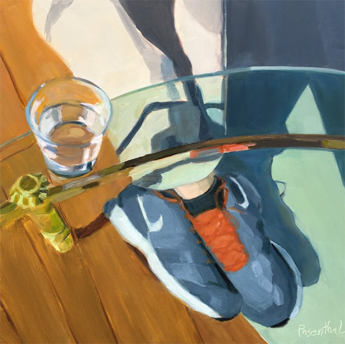 """Under the Glass Table"" original fine art by Robin Rosenthal"