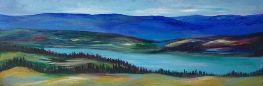 """2070 - Above the Lake - Exhibition Size"" original fine art by Sea Dean"