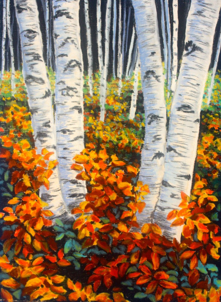 """""""Color on the Forest Floor"""" original fine art by Jill Bates"""