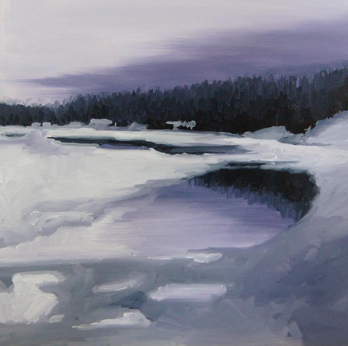 """No 402 Winter Lake"" original fine art by Robin J Mitchell"