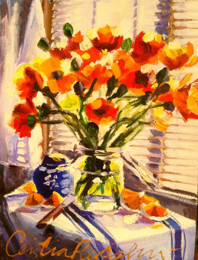 """""""PENNY'S POPPIES"""" original fine art by Cecilia Rosslee"""