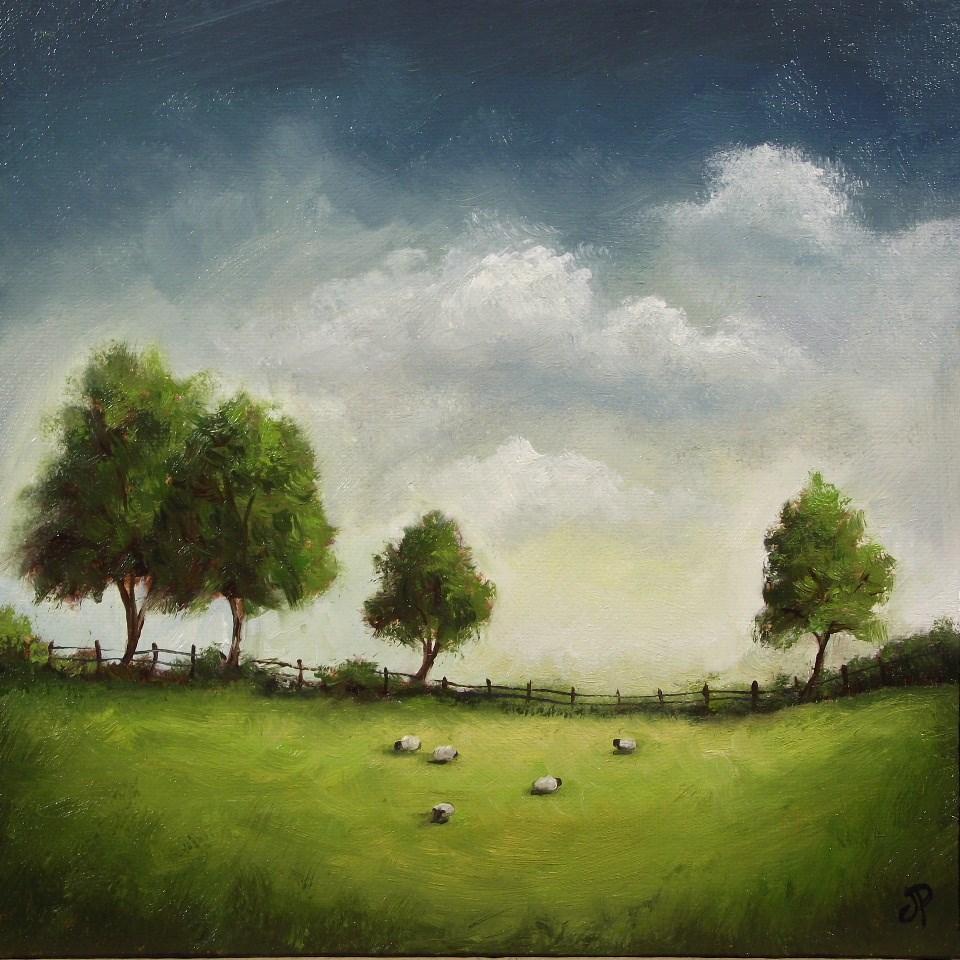 """Four Trees"" original fine art by Jane Palmer"