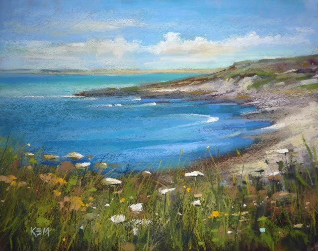"""Pastel in Ireland Part Three: Painting by the Sea"" original fine art by Karen Margulis"