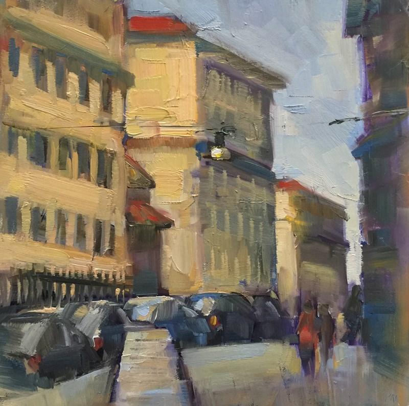 """""""Borgo S. Spirito"""" original fine art by Patti McNutt"""
