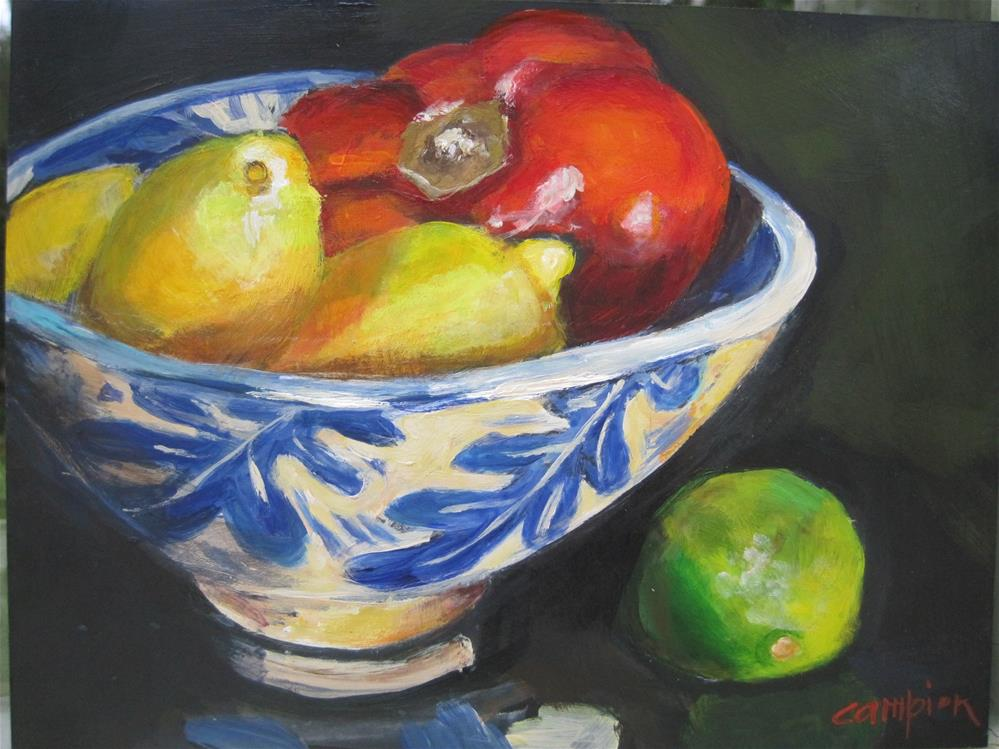 """""""417 Variety With a Jean Wells Bowl"""" original fine art by Diane Campion"""