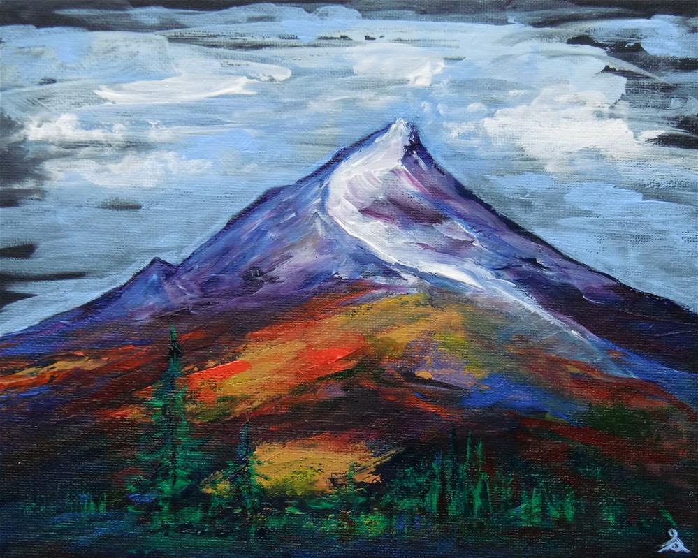"""""""3255 - Fall Mountain"""" original fine art by Sea Dean"""