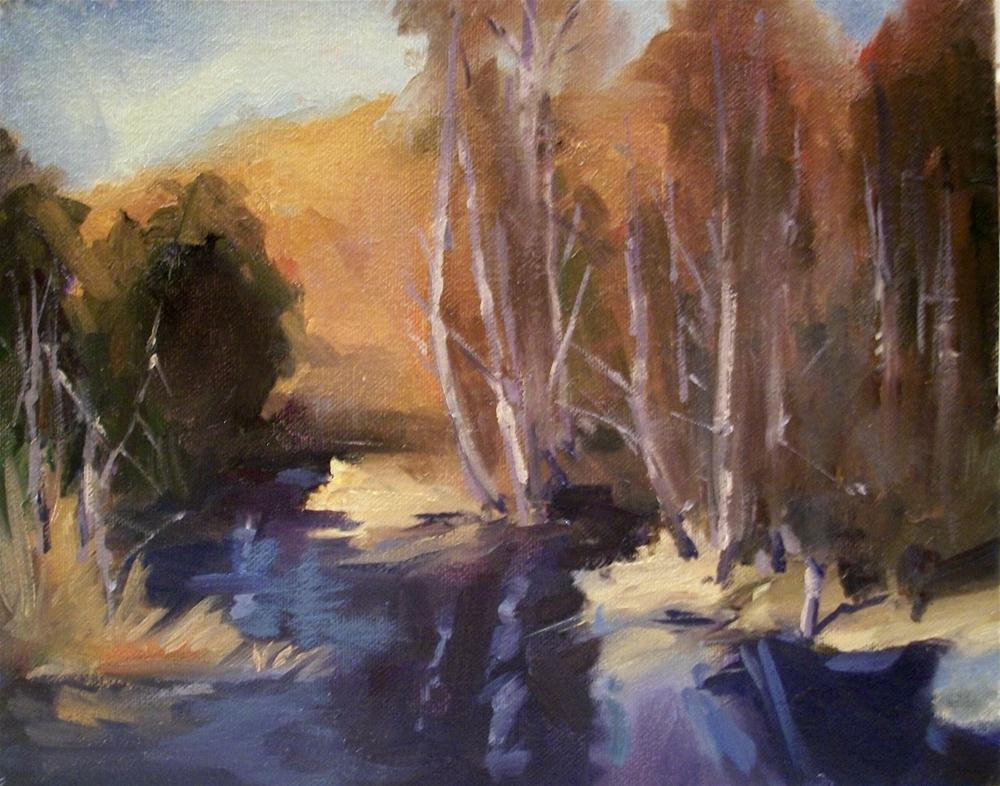 """ RIVER BIRCH ADVENTURE "" original fine art by Doug Carter"