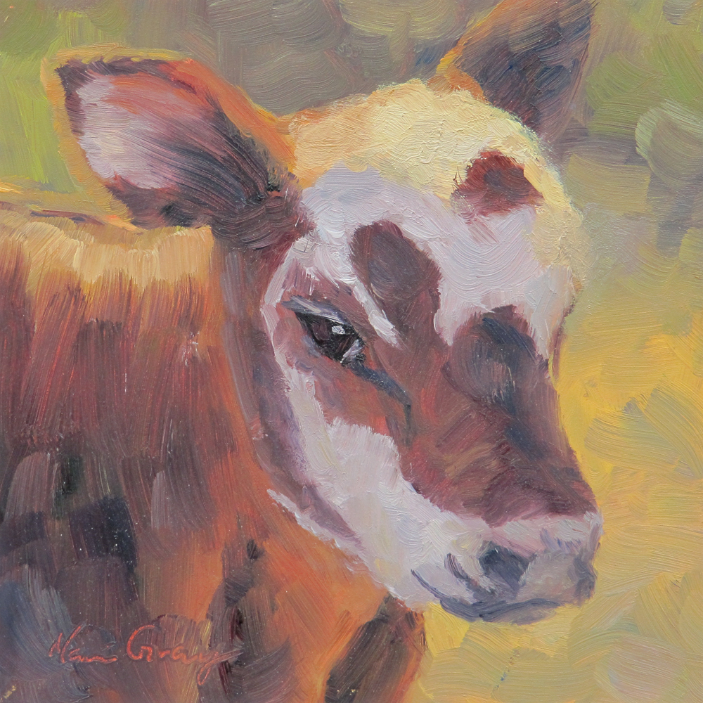 """Calf in the Sage"" original fine art by Naomi Gray"