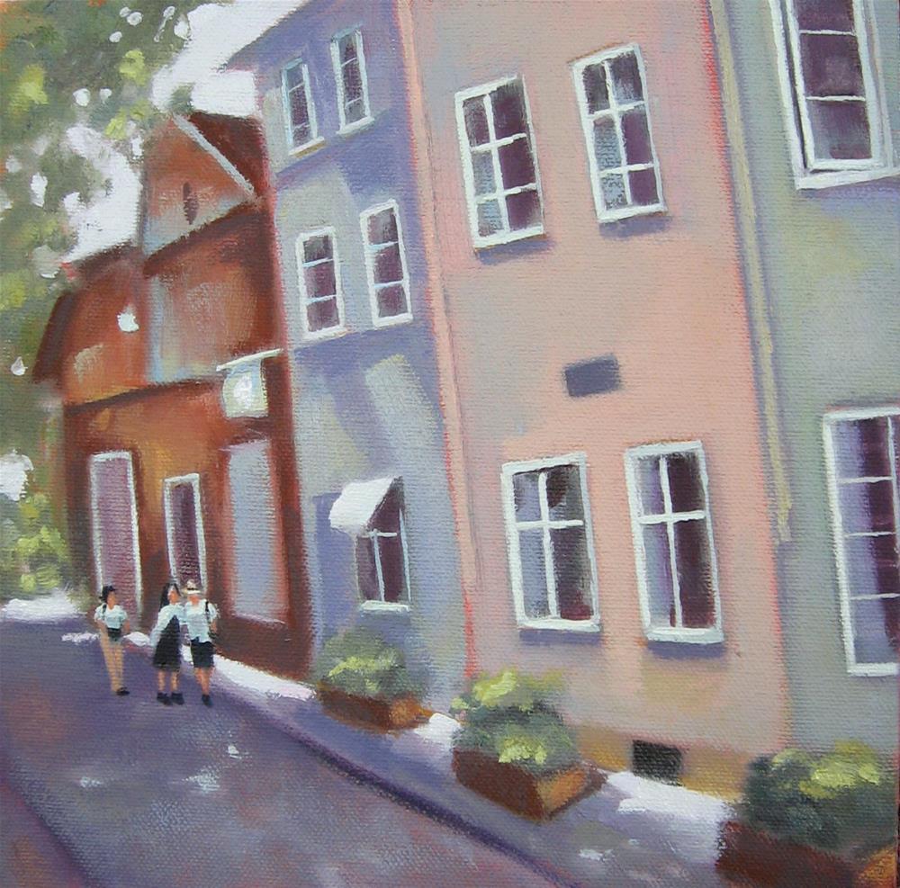 """""""Bremen Town"""" original fine art by Maresa Lilley"""