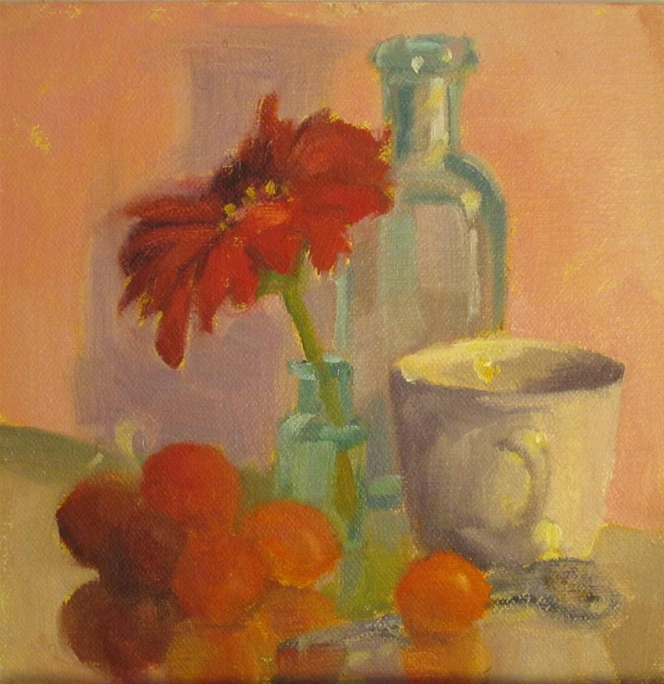 """Coffee and daisy"" original fine art by Leigh Alexandra Sparks"