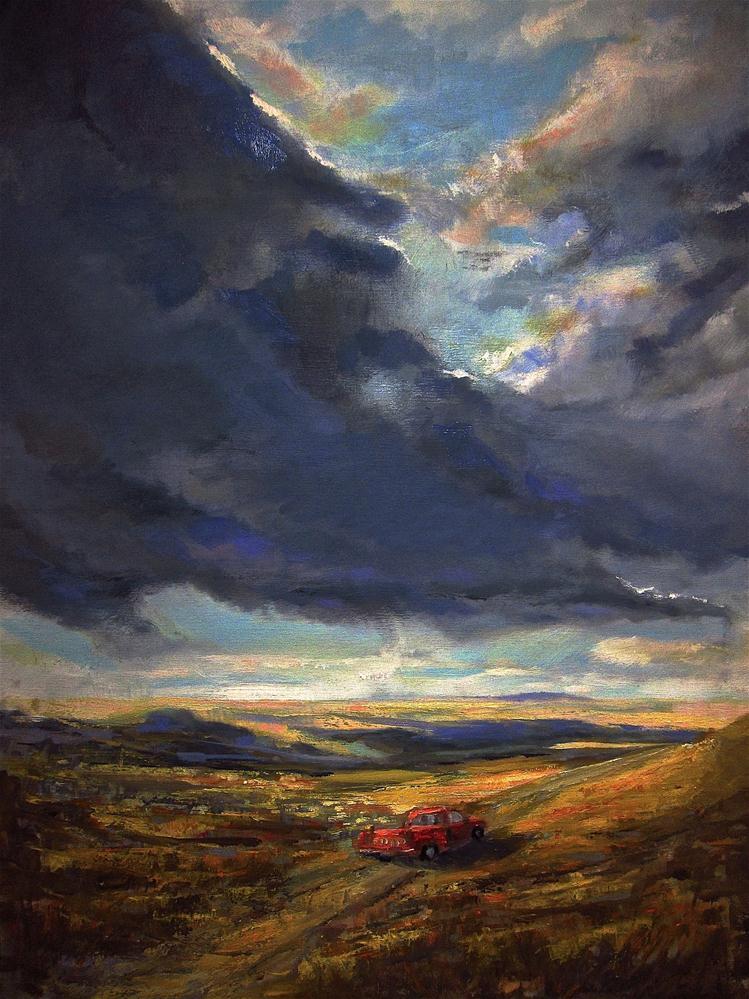 """""""Holding Up the Sky"""" original fine art by Aurelio Saiz"""