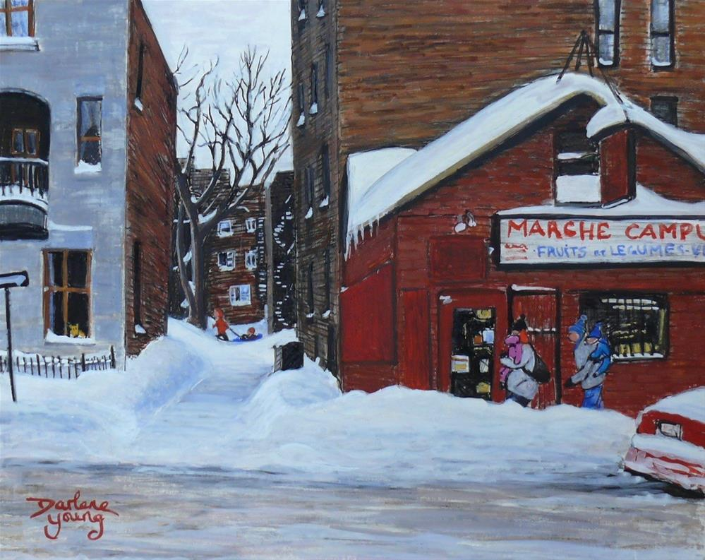 """1145 Marche Campus, 8x10, Egg tempera"" original fine art by Darlene Young"