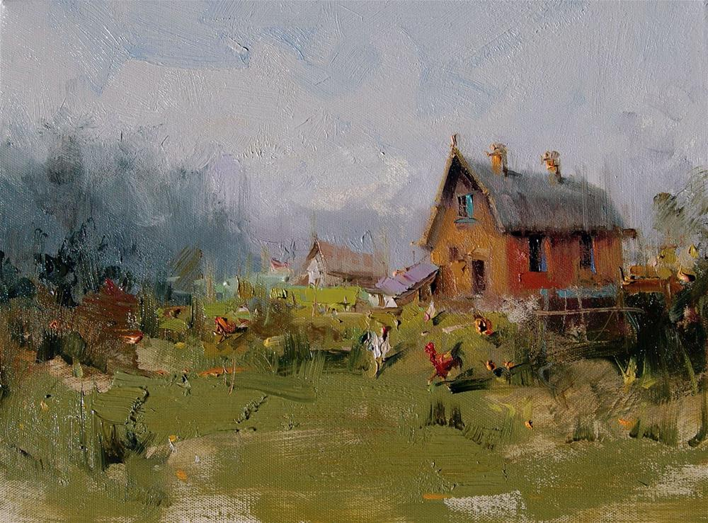 """Old Barn"" original fine art by Mostafa Keyhani"