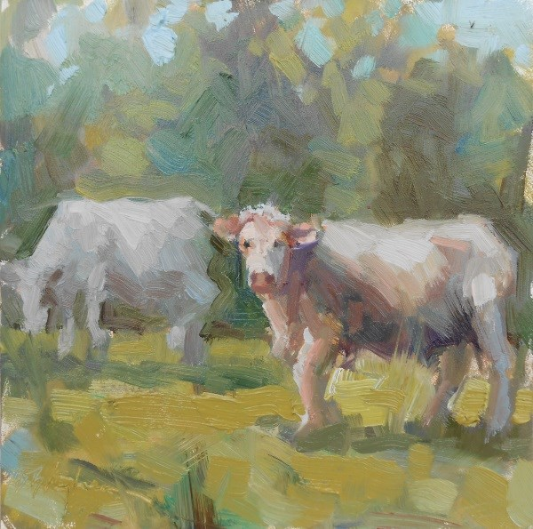 """Grazing"" original fine art by Bruce Bingham"