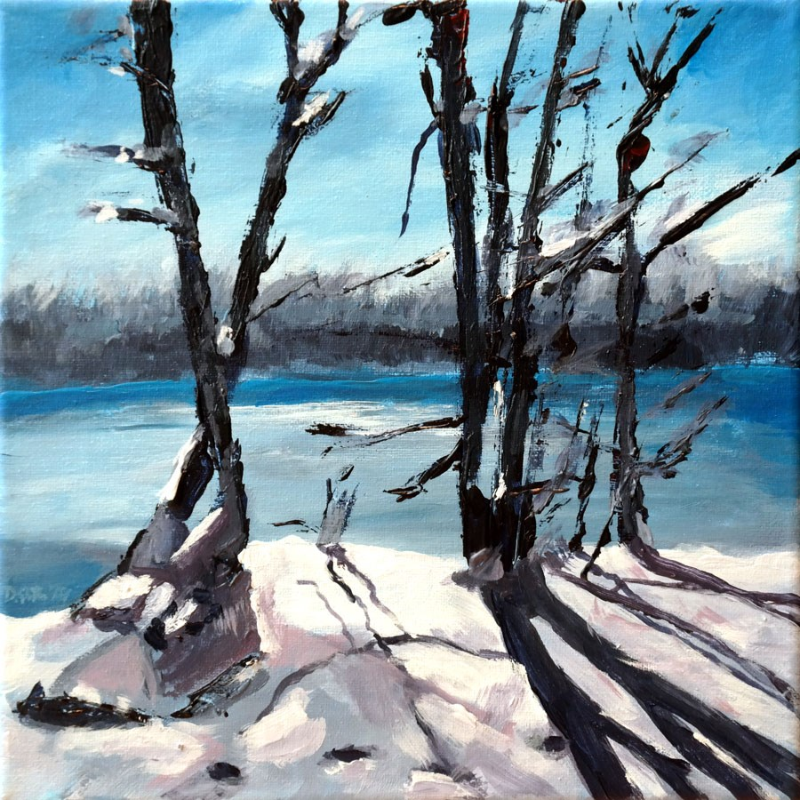 """0893 Winter again"" original fine art by Dietmar Stiller"