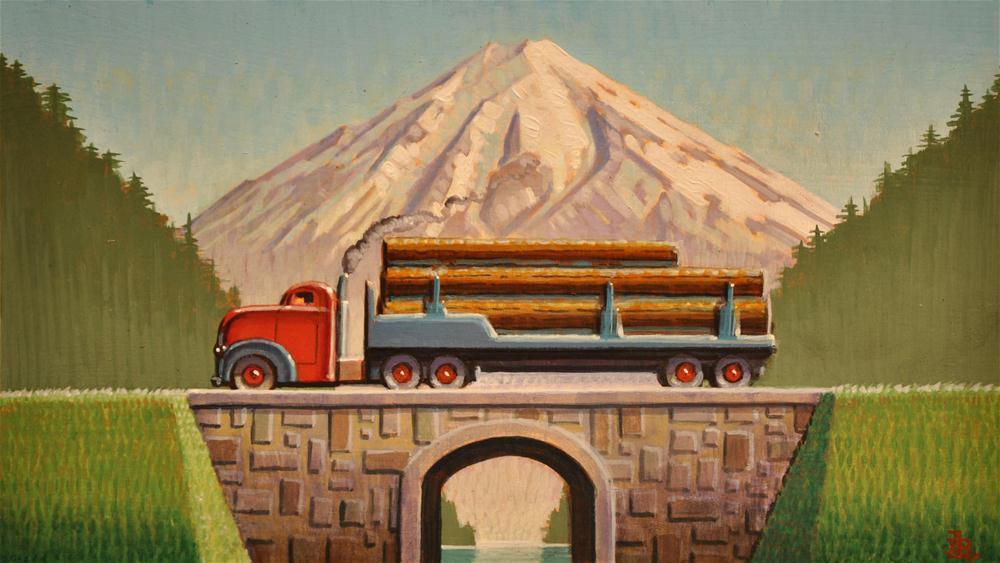 """""""Logger"""" original fine art by Robert LaDuke"""