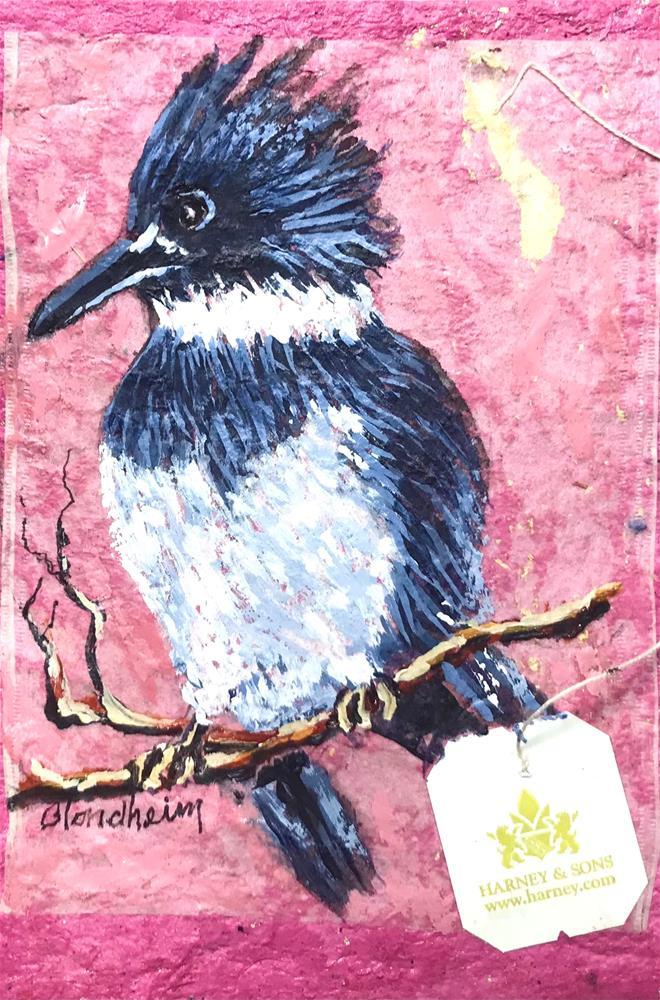"""Kingfisher"" original fine art by Linda Blondheim"