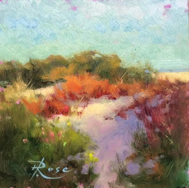 """Beach red"" original fine art by Howard Rose"