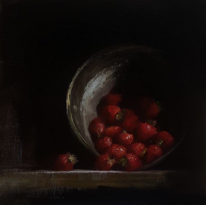 """Upturned Strawberries"" original fine art by Neil Carroll"