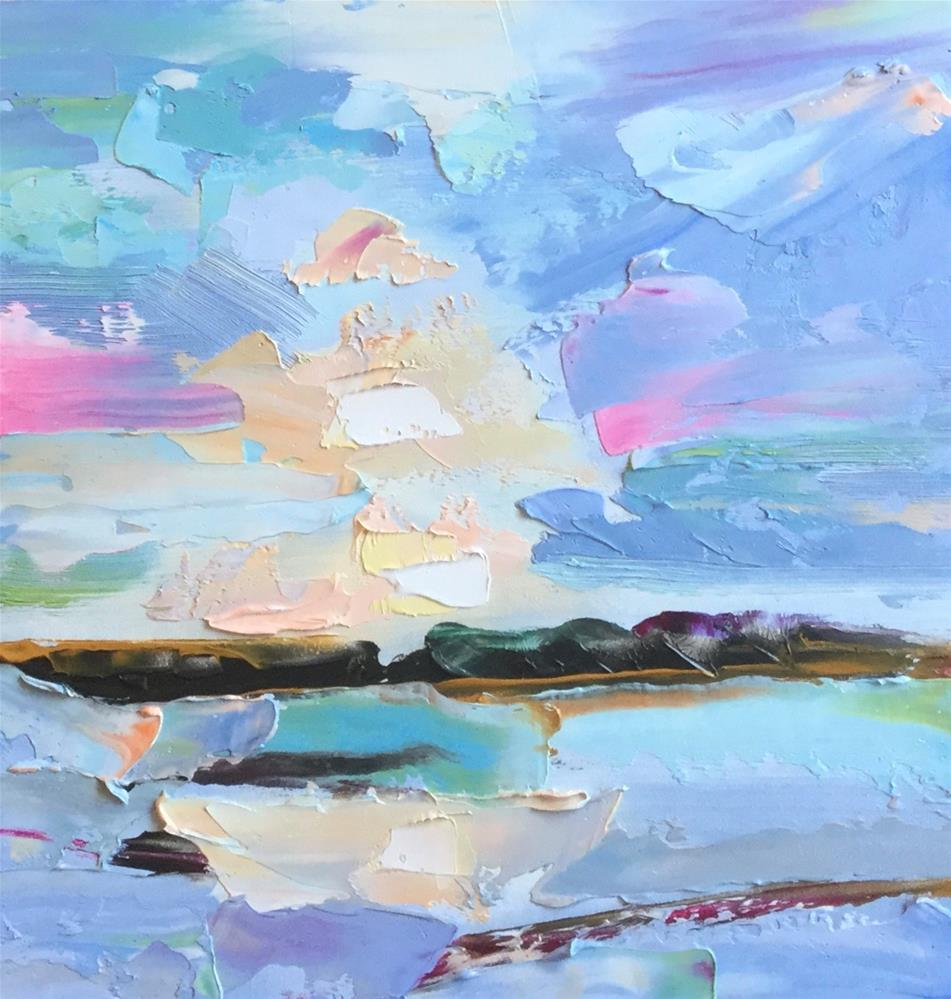 """Abstract Seascape 3"" original fine art by Charlotte Fitzgerald"
