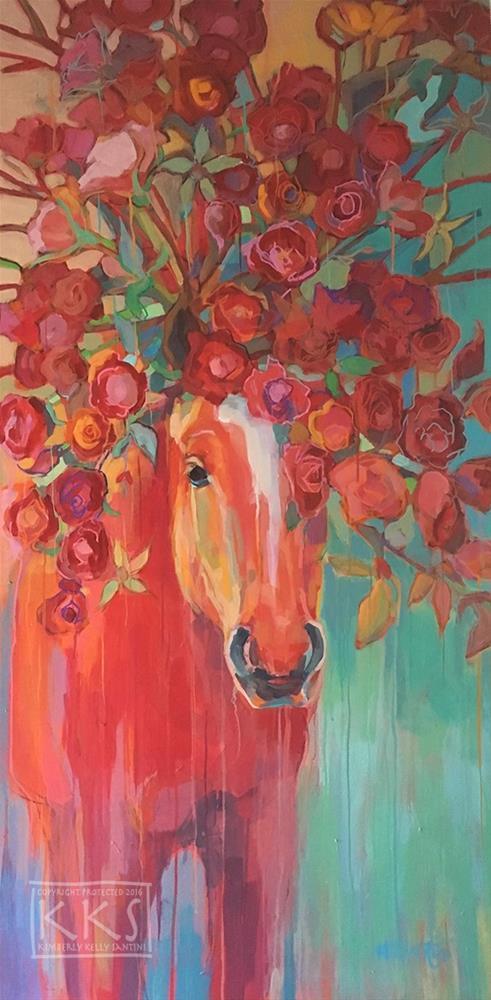 """Briar Rose"" original fine art by Kimberly Santini"