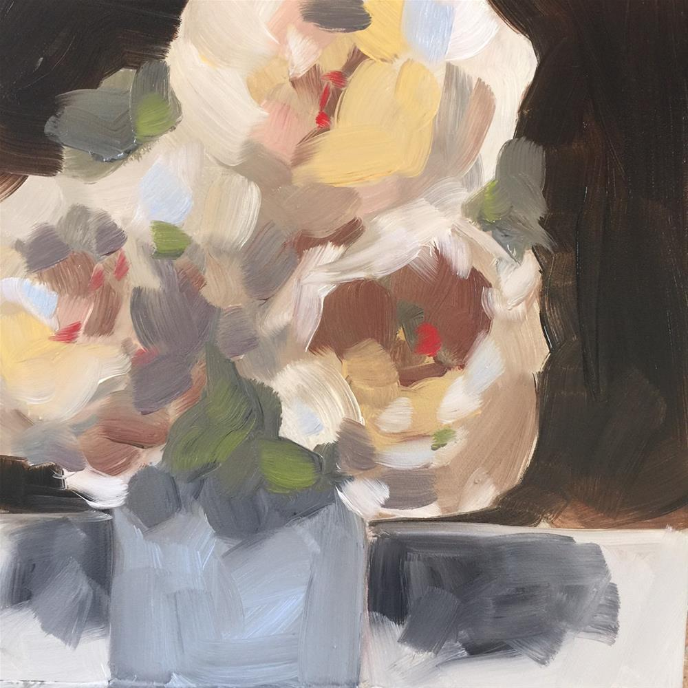 """357 Three Little Roses"" original fine art by Jenny Doh"