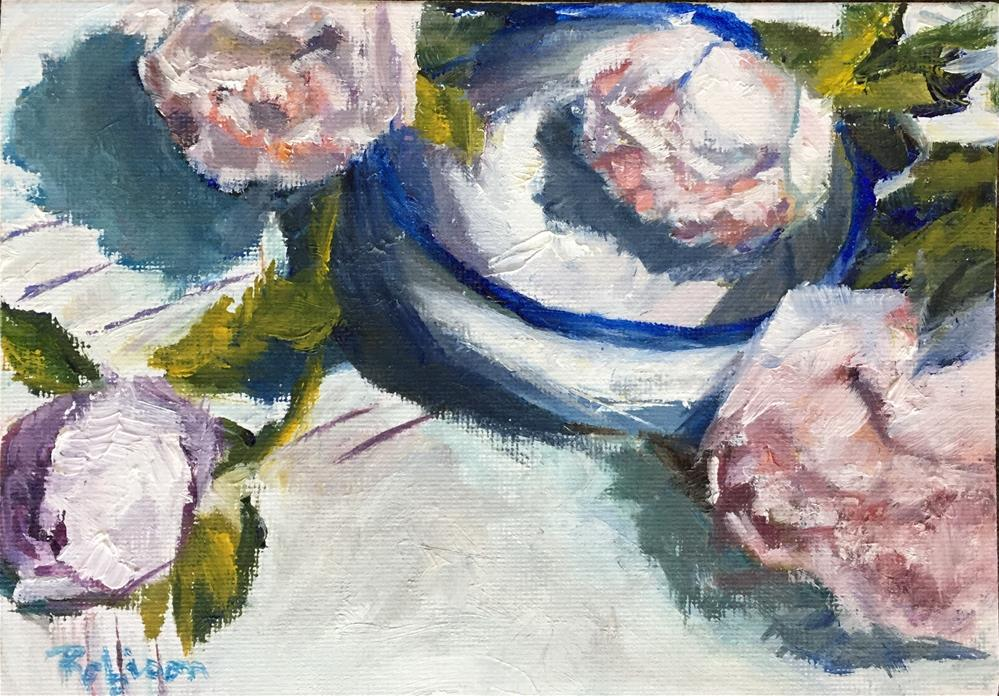 """Peony Still Life"" original fine art by Renee Robison"