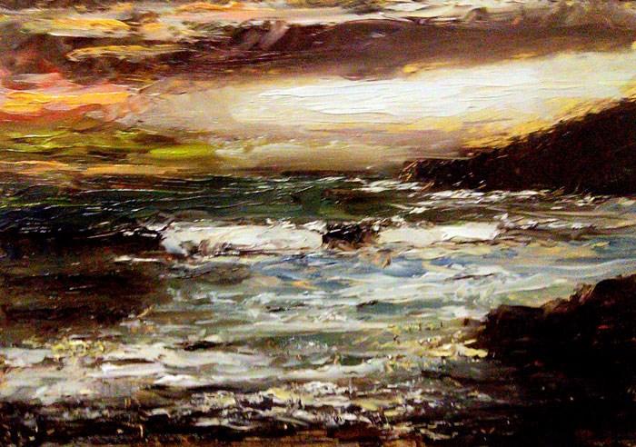 """Rough Beach"" original fine art by Bob Kimball"
