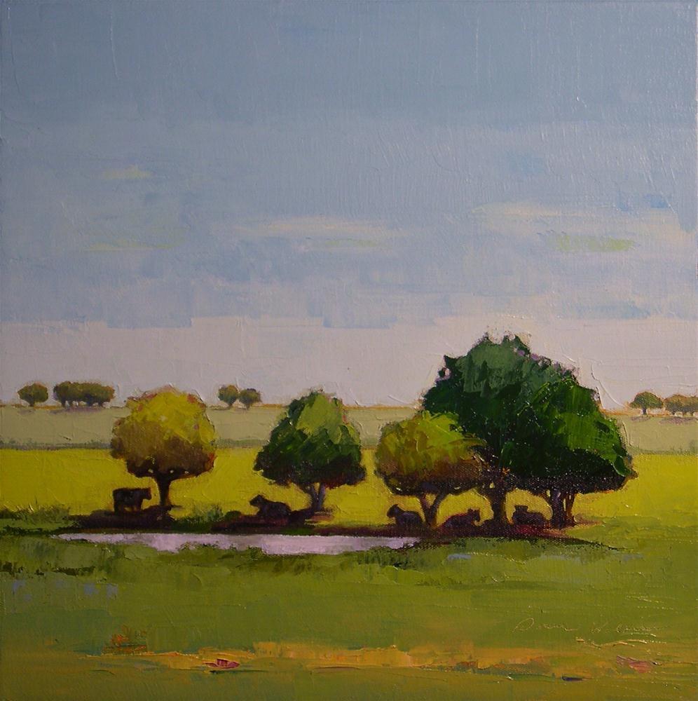 """The Watering Hole"" original fine art by Donna Walker"