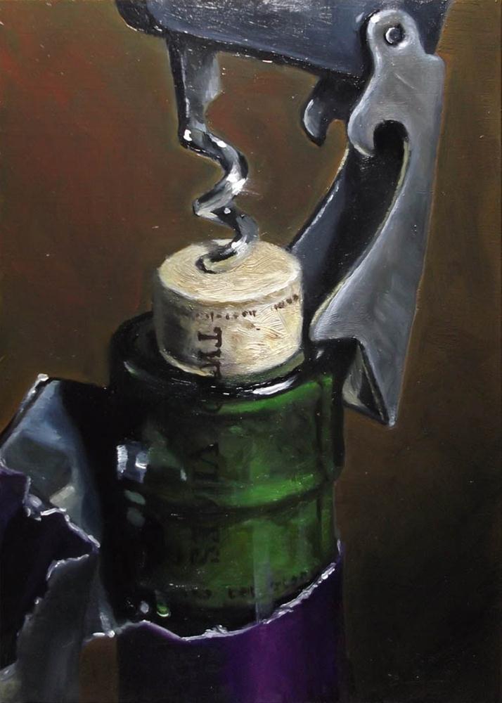 """A Good Opener"" original fine art by Karen Boe"
