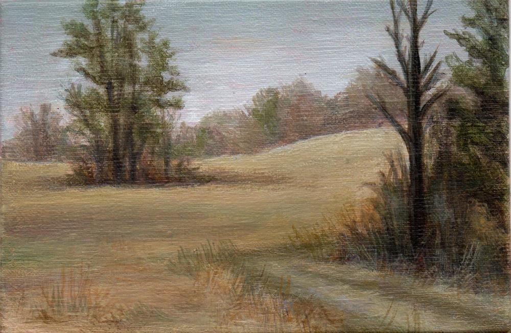 """""""Winter Field"""" original fine art by Debbie Shirley"""