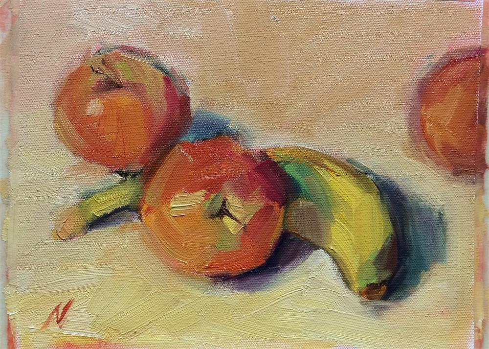 """Apples and Banana"" original fine art by Naomi Bautista"