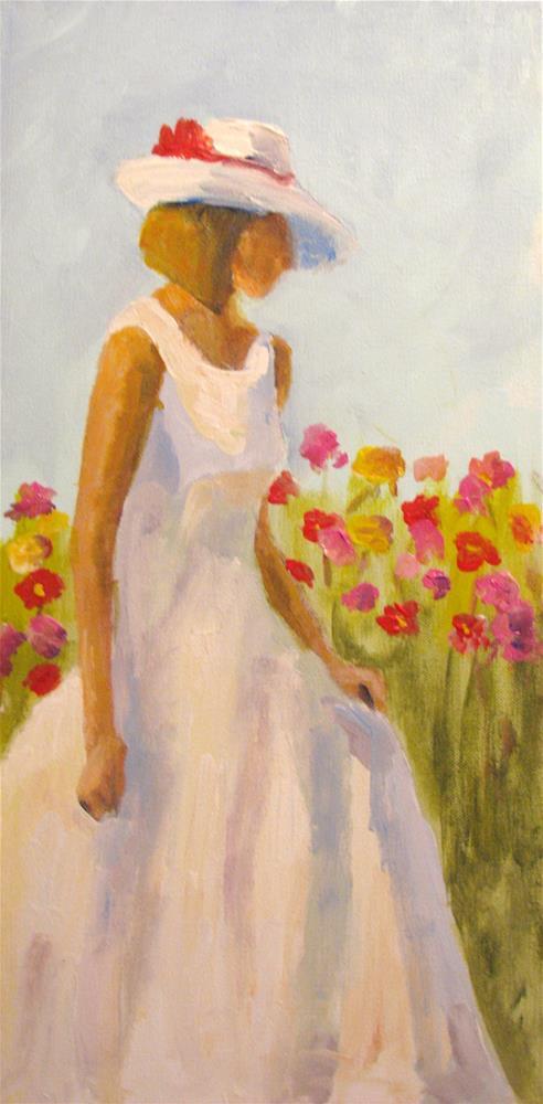 """Zinnia Garden"" original fine art by Susan Elizabeth Jones"