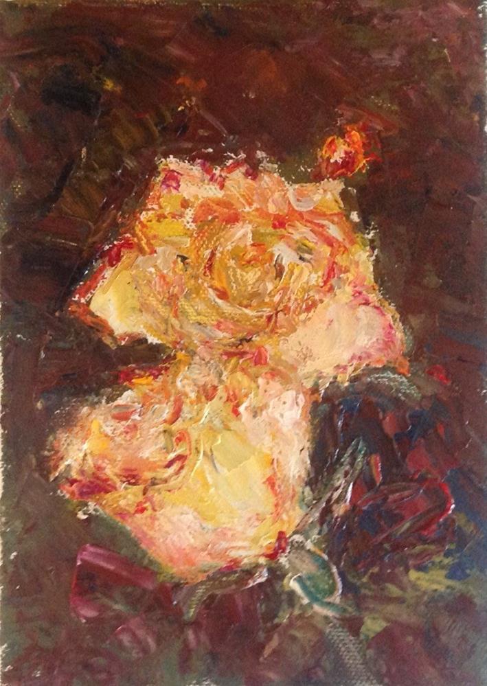 """Anniversary Roses"" original fine art by Judy Usavage"