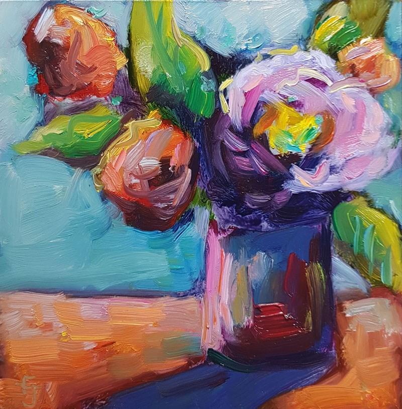 """""""Riotous Color Spree"""" original fine art by Francine Dufour~Jones"""