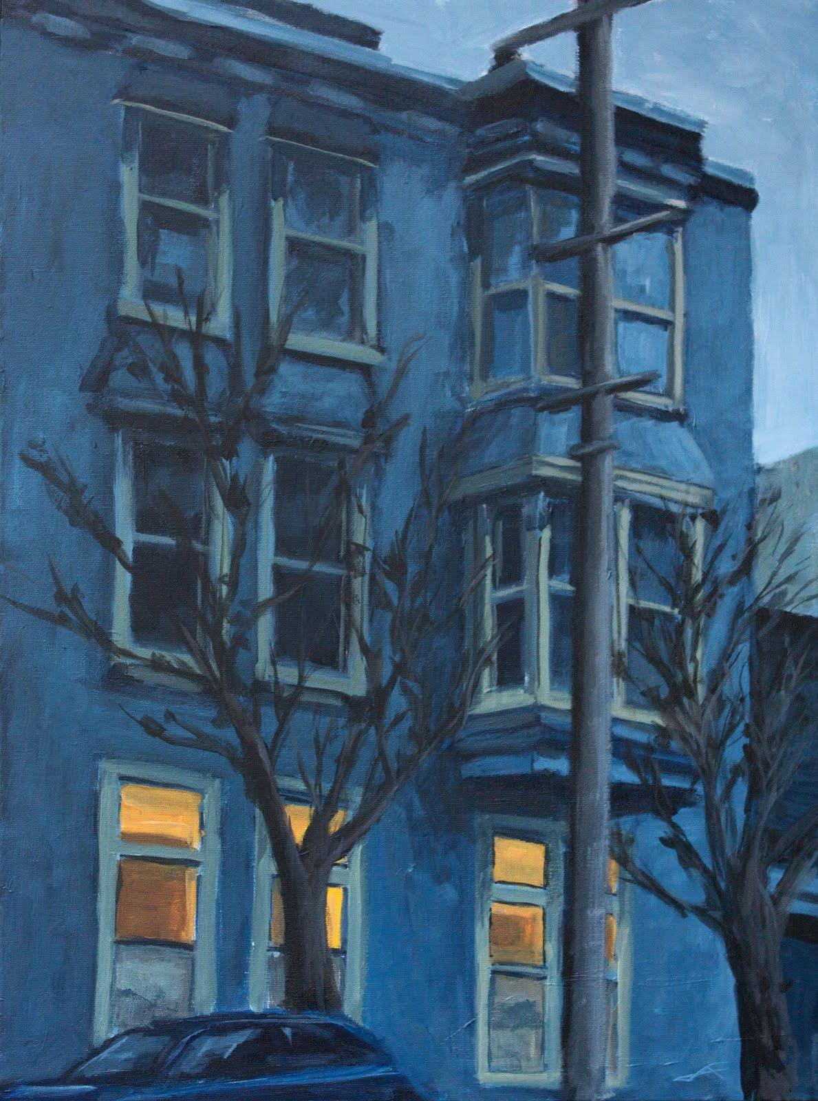 """Page House Blues"" original fine art by J. Farnsworth"