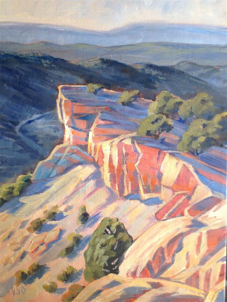 """Canyon Rim  (Bailey's Wash)"" original fine art by Valerie Orlemann"