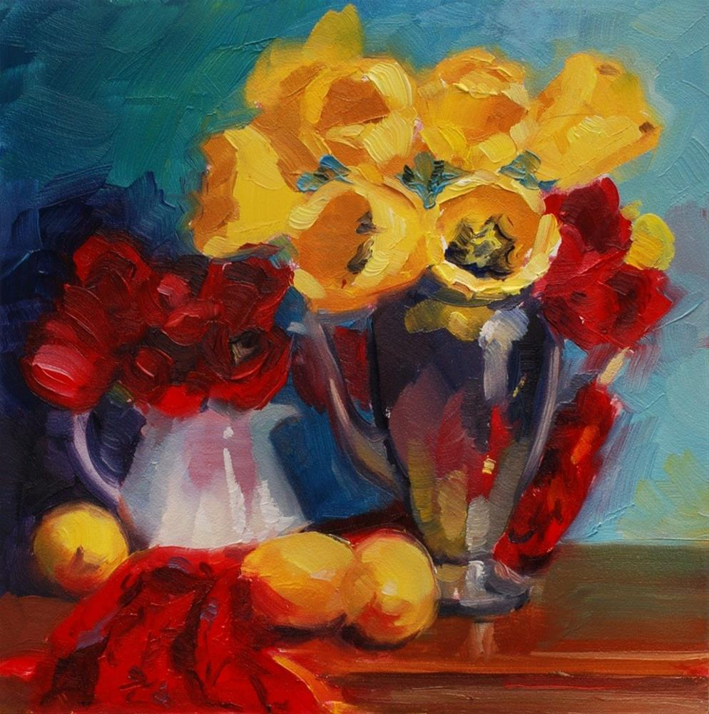 """""""No. 418 Primary Tulips"""" original fine art by Susan McManamen"""