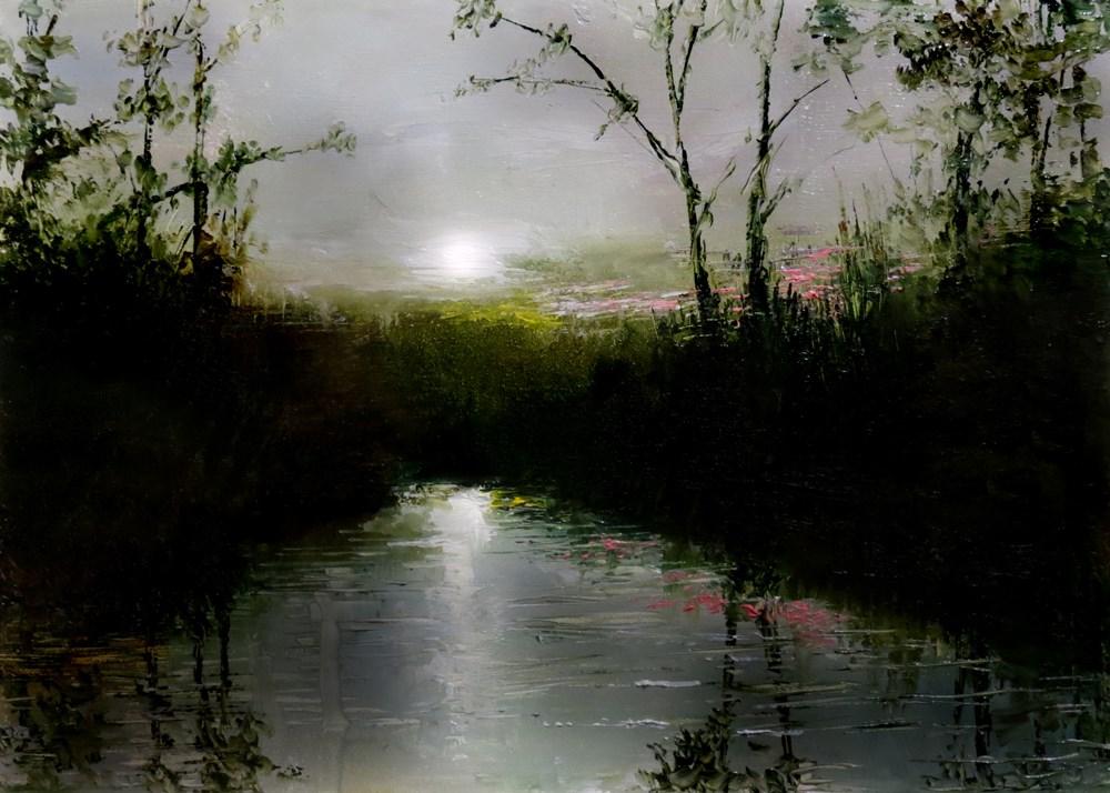 """Swamp River"" original fine art by Bob Kimball"