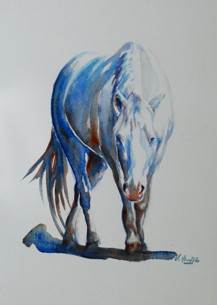 """Laura's horse"" original fine art by Vicki Wood"
