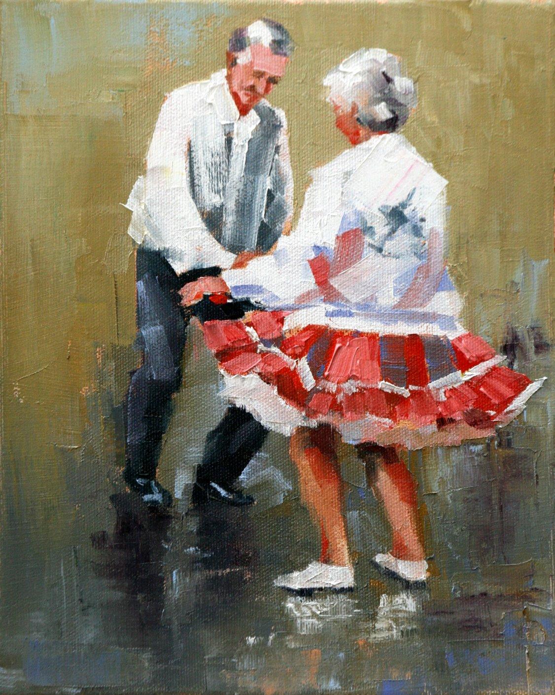 """""""dancing feet"""" original fine art by Carol Carmichael"""
