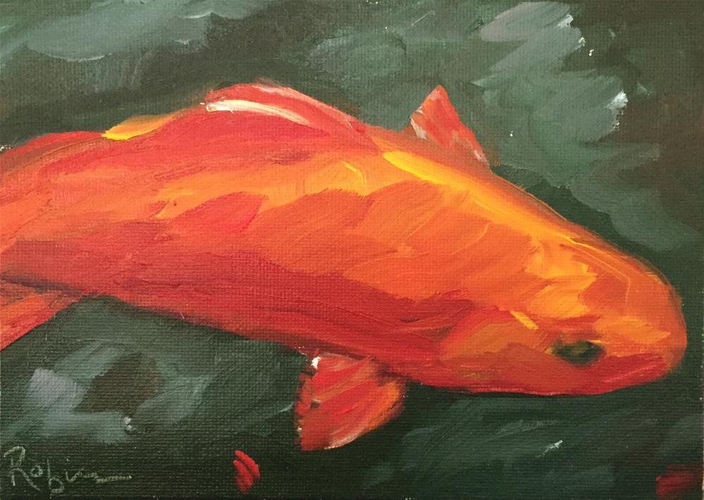 """Single Coy"" original fine art by Renee Robison"