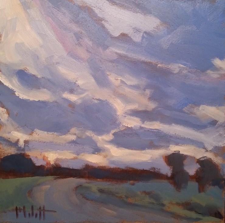 """Saturday Evening Sunset Driving Landscape Original Art Impressionism"" original fine art by Heidi Malott"