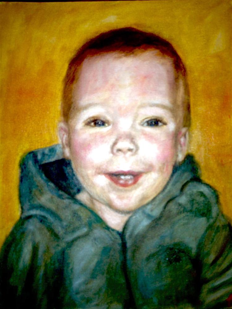 """Cutie"" original fine art by Michelle Linnihan"