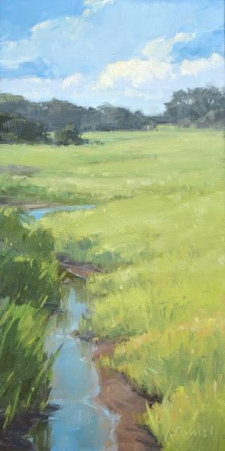 """Marshland Creek - Georgia Coast"" original fine art by Laurel Daniel"
