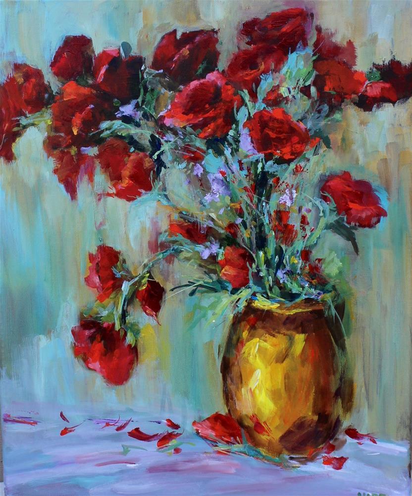 """Red Roses-Valentine's Day"" original fine art by Alice Harpel"